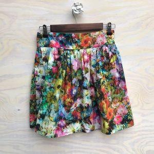 Zara woman Floral Skirt size XS